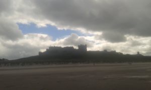 silhouette of bamburgh castle