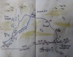 map of route walked