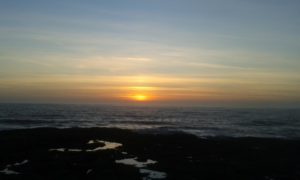Sunset over Bristol Channel